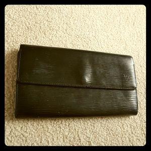 Louis Vuitton epi wallet customized.